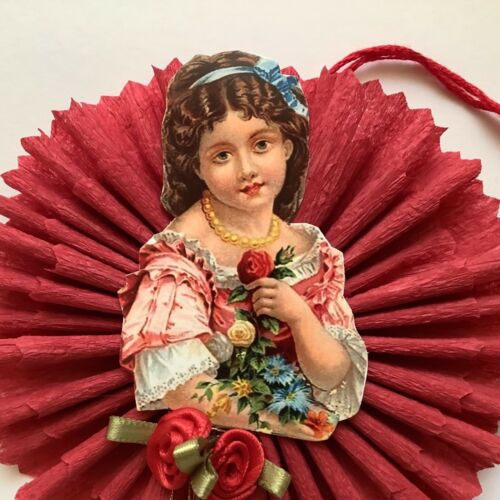 Paper doll Vintage Christmas Valentine  Easter ornaments item# 1A, Victorian