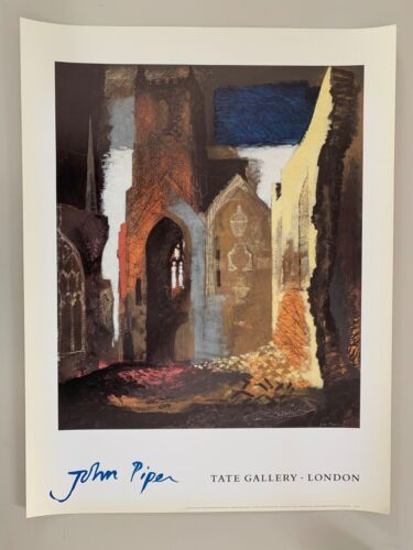 JOHN PIPER,'ST. MARY LE PORT BRISTOL,1940' AUTHENTIC 1991 TATE GALLERY PRINT
