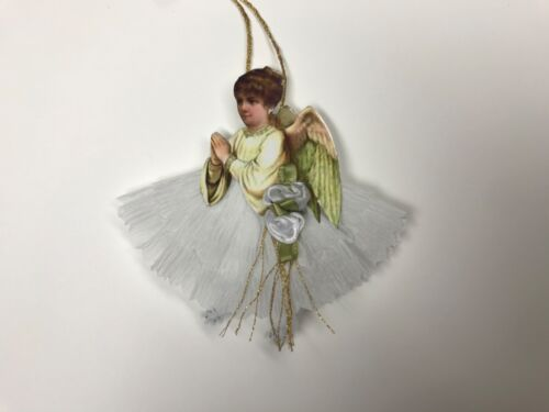 Paper doll Christmas angel ornaments, feather tree vintage image item# 40