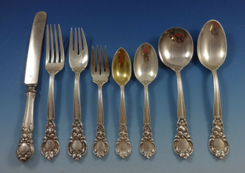 Royal Oak by Gorham Sterling Silver Flatware Set For 8 Service 68 Pieces