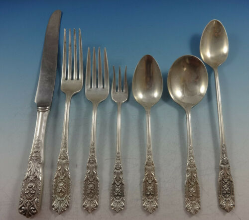Milburn Rose by Westmorland Sterling Silver Flatware Set 12 Service 93 Pieces