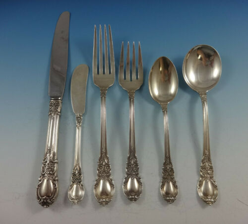 American Victorian by Lunt Sterling Silver Flatware Set 8 Service 51 Pieces