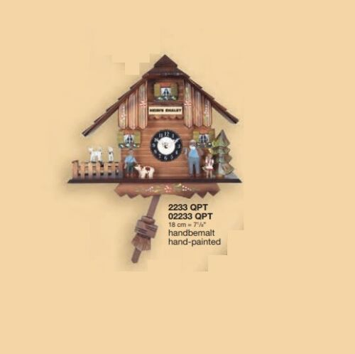 New Engstler Black Forest Heidi Chalet Clock with Westminster chime and cuckoo