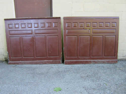 ~ 2 PIECES 12 FEET ORNATE ANTIQUE CHESTNUT PANELING WAINSCOTING ~ SALVAGE ~