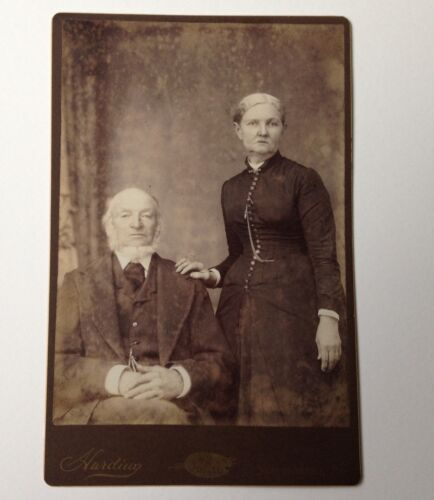 Antique Photo Cabinet Card Susquehanna PA Harding Married Couple