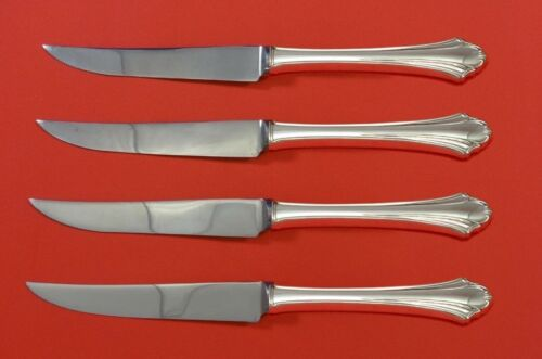 """Bel Chateau by Lunt Sterling Silver Steak Knife Set 4pc HHWS  Custom Made 8 1/2"""""""