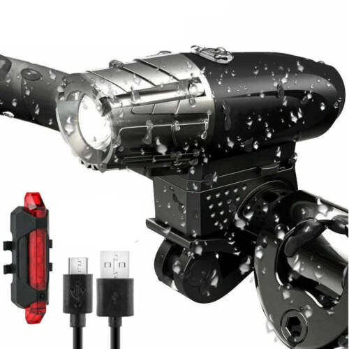 Rechargeable LED Bike Bicycle Light USB Waterproof Cycle Front Back Headlight <br/> SAME DAY SHIPPING, From MELBOURNE AUSTRALIA