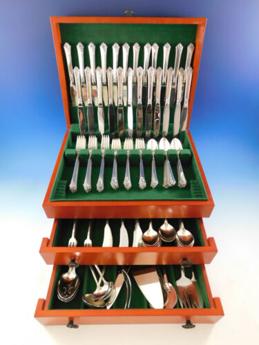 Damask Rose by Oneida Sterling Silver Flatware Set for 24 Service 188 pieces