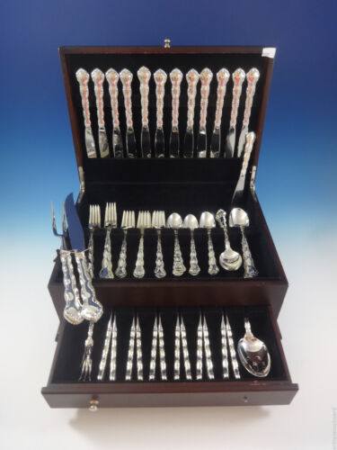 Tara by Reed and Barton Sterling Silver Flatware Set For 12 Service 79 Pieces