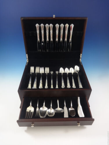Stately by State House Sterling Silver Flatware Set For 8 Service 63 Pieces