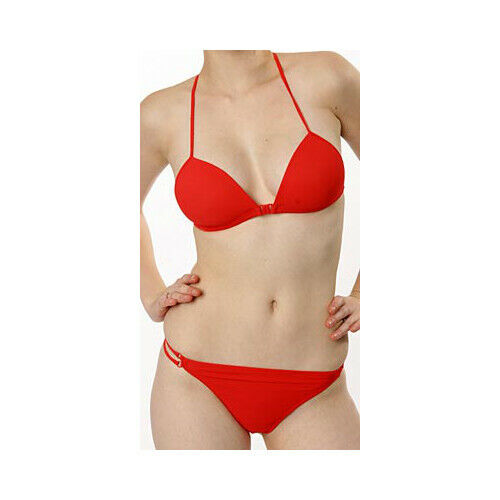"Marlies Dekkers ""Red"" Triangle Front Fastening Bikini Top Wire Free 36B"