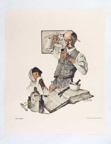 Vintage 1970's Norman Rockwell The Druggist Saturday Evening Post Print