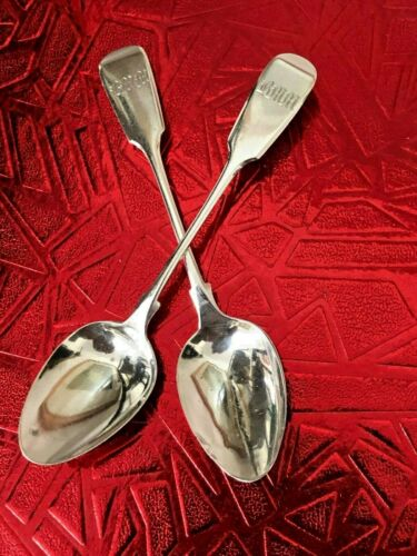 Sterling Silver Tea Spoons - Thomas Hart Stone - Exeter - 1864
