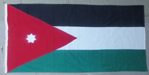 JORDAN FLAG Large 1970s Vintage US Government Issue for Military Bases & EmbassyOriginal Period Items - 13983