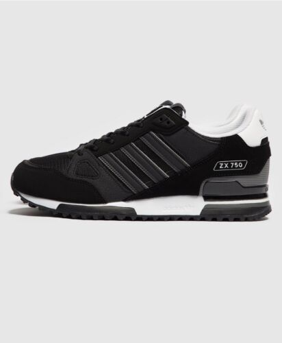 adidas Originals Mens ZX 750 Trainers Black /Sneakers All Sizes