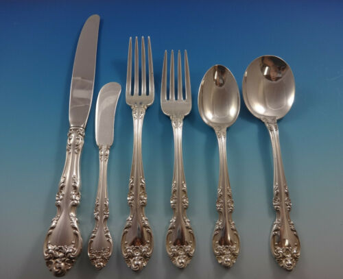 Melrose by Gorham Sterling Silver Flatware Set For 8 Service 49 Pieces