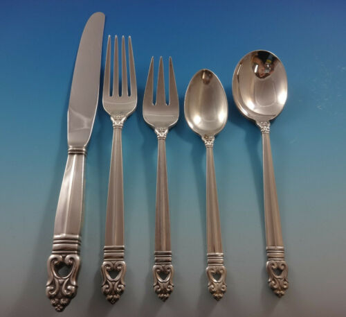 Royal Danish by International Sterling Silver Flatware Set 8 Service 52 Pieces