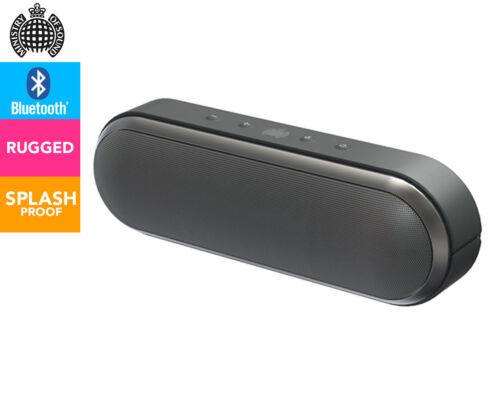 MINISTRY OF SOUND AUDIO S PLUS PORTABLE BLUETOOTH SPEAKER - CHARCOAL