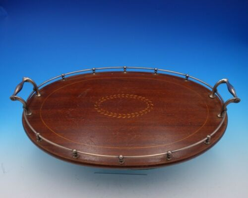 Faneuil by Tiffany and Co Sterling Silver Wood Gallery Tray #17931-6226 (#3445)