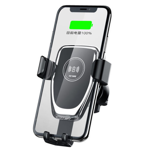 US 10W Fast Qi Wireless Car Charger Dock Stand Holder For iPhone 8 X 8Plus XS XR