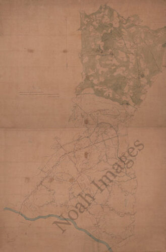 Map of Greensville County Virginia c1863 24x36