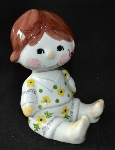Vintage Quadrifoglio Coop Art Florence Little Girl Money Box Hand-Painted Italy