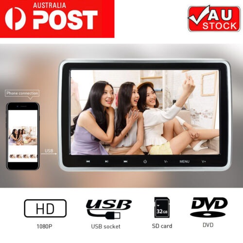 """10.1"""" 1080P Touched Key Car Headrest DVD Player and Rear-Seat Game Entertainment"""
