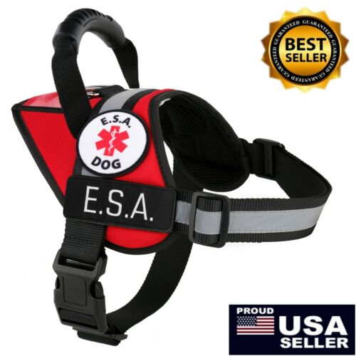 ALL ACCESS CANINE™ ESA Emotional Support Dog Vest Harness Reflective Waterproof <br/> FAST FREE SHIPPING - USA MADE - PATCHES - ID POCKET