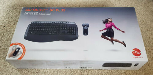 Gyration Air Mouse Go Plus and Full Sized Keyboard (Boxed - VGC)