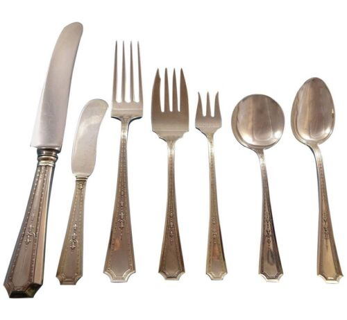 Colfax by Durgin-Gorham Sterling Silver Flatware Set For 8 Service 67 Pieces