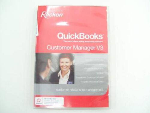 RECKON QUICKBOOKS FULL VERSION CUSTOMER MANAGER V3 SOFTWARE BUSINESS ACCOUNTING