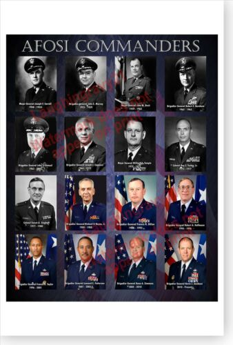 Air Force OSI Office Of Special Investigations 1948 - 2011 Commanders Poster