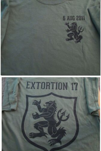 Navy SEALS EXTORTION 17 Gold Squadron 8/6/11 T-SHIRT XXL Ultra CottonOther Militaria - 135