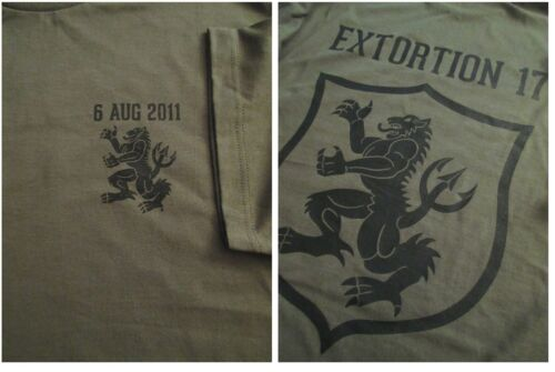 Navy SEALS EXTORTION 17 Gold Squadron 8/6/11 T-SHIRT Large Ultra CottonOther Militaria - 135
