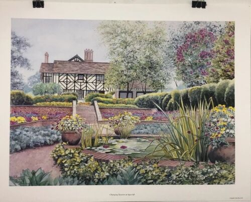FINE ART LITHOGRAPH: Judy Newcomb - Changing Seasons At Agecroft - 24 X 31 - S/N