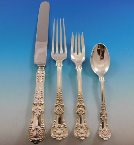 English King by Tiffany & Co Sterling Silver Flatware Set Service 48 pcs Dinner