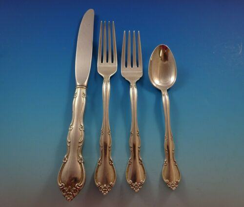 Rose Tiara by Gorham Sterling Silver Flatware Set For 12 Service 55 Pieces