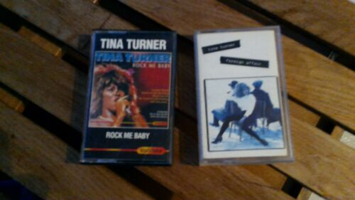 rare TINA TURNER lot TAPE  2 CASSETTES K7:rock me baby-foreign affair!
