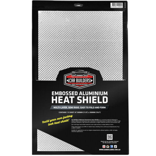 Exhaust Heat Shield EMBOSSED ALUMINIUM - multi layer by Car Builders