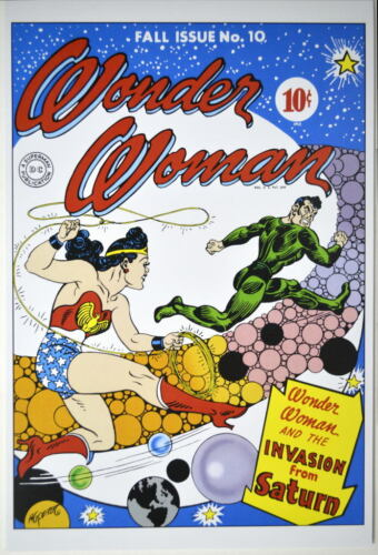 WONDER WOMAN 10 COVER PRINT Invasion From Saturn