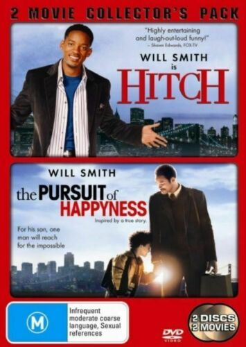 Hitch / The Pursuit Of Happyness (Will Smith) DVD ..Region 4