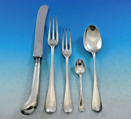 Rattail by Cooper Bros. English Sterling Silver Flatware Set Service 48pc Dinner