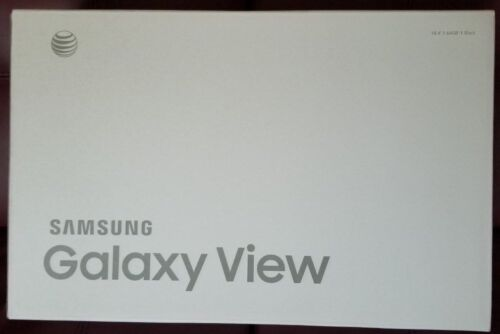 SAMSUNG GALAXY VIEW SM-T677A 64GB Wi-Fi 4G (AT&T) BRAND NEW SEALED BOX NEVER USE