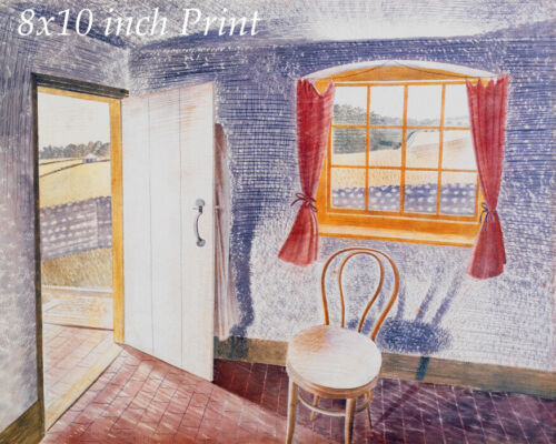 Interior at Furlongs by Eric Ravilious - Country Cottage House 8x10 Print 2813