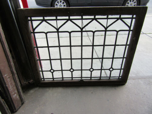 ~ ANTIQUE STAINED GLASS WINDOW ~ 40.5 x 32 ~ ARCHITECTURAL SALVAGE