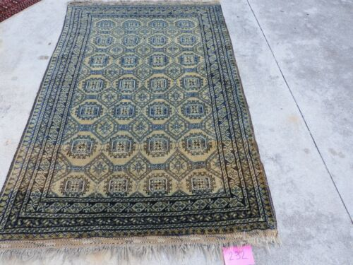 4x7ft. Authentic Afghan Mouri Bokharra Wool Rug
