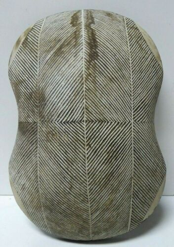 ANTIQUE INCISED CARVED WOODEN GEOMETRIC LINES TRIBAL SHIELD