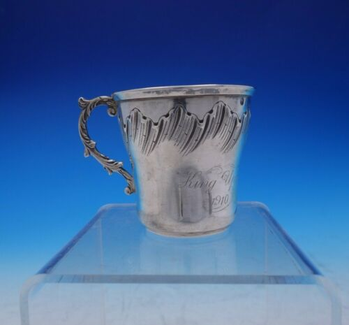 """French Sterling Silver Child's Cup / Child's Mug Rococo Design 3"""" Tall (#3819)"""