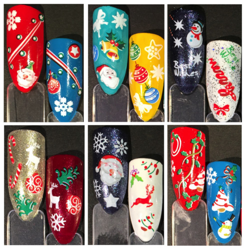 Nail Art Water Transfer Stickers-decals-natale-christmas-adesivi-buy 3 Get 4 !