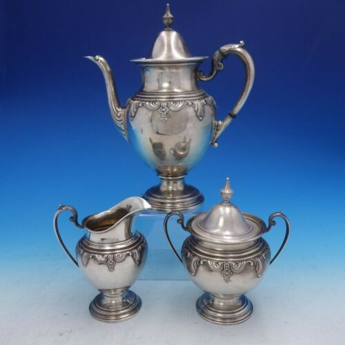 Stradivari by Wallace 3 Piece Sterling Silver Coffee Set Number 6350 (#4109)
